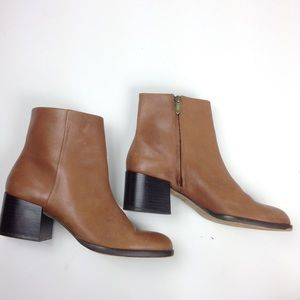 Sam Edelman Joey Ankle Boots Tan Leather Sz 7.5